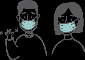 Man and Woman wearing mask