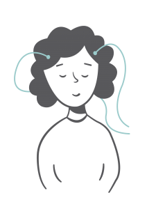 Girl Connected to Neurofeedback Sensors