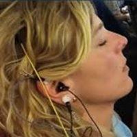 neurofeedback sensors hooked up on a woman
